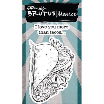 Brutus Monroe LOVE YOU MORE THAN TACOS Clear Stamps bru3324