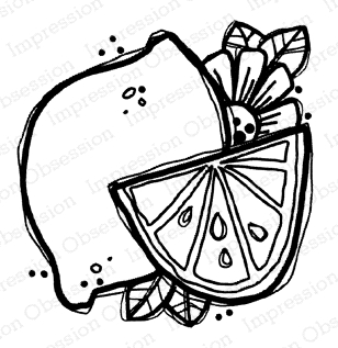 Impression Obsession Cling Stamp LEMON D21363 Preview Image