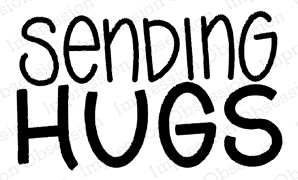 Impression Obsession Cling Stamp SENDING HUGS C21357 Preview Image