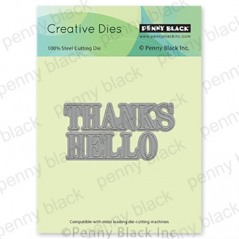 Penny Black THANKS AND HELLO Thin Metal Creative Dies 51 638