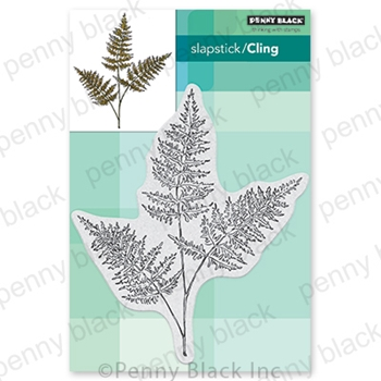 Penny Black Cling Stamp FRESH FERN 40 722