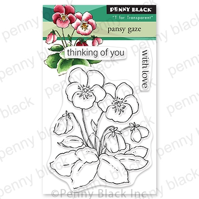 Penny Black Clear Stamps PANSY GAZE 30 806 Preview Image