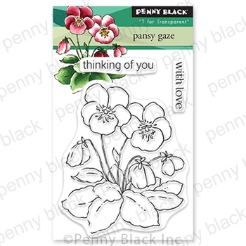 Penny Black Clear Stamps PANSY GAZE 30 806