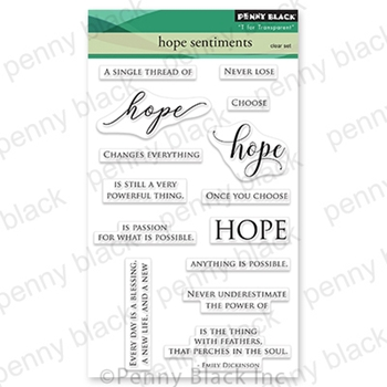Penny Black Clear Stamps HOPE SENTIMENTS 30 803