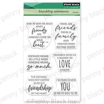 Penny Black Clear Stamps FRIENDSHIP SENTIMENTS 30 799