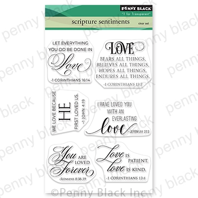 Penny Black Clear Stamps SCRIPTURE SENTIMENTS 30 797 zoom image