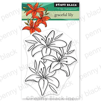 Penny Black Clear Stamps GRACEFUL LILY 30 689