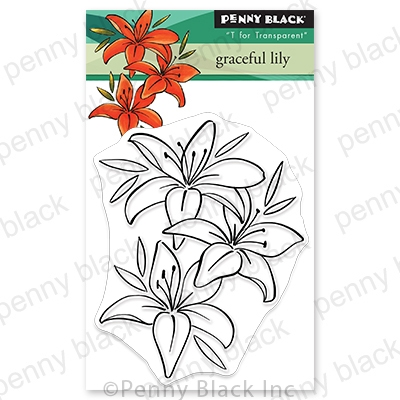 Penny Black Clear Stamps GRACEFUL LILY 30 689 zoom image