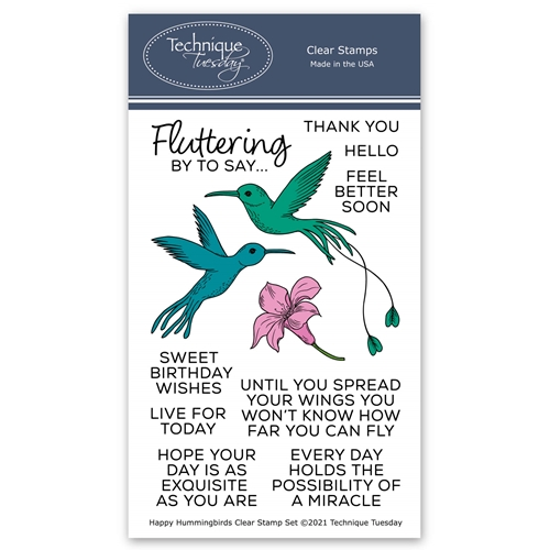 Technique Tuesday HAPPY HUMMINGBIRDS Clear Stamps 8803 Preview Image