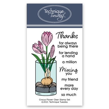 Technique Tuesday CROCUS Clear Stamps 2962