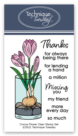 Technique Tuesday CROCUS Clear Stamps 2962 zoom image