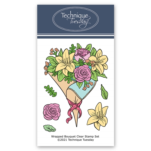 Technique Tuesday WRAPPED BOUQUET Clear Stamps 8827* Preview Image