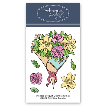 Technique Tuesday WRAPPED BOUQUET Clear Stamps 8827*