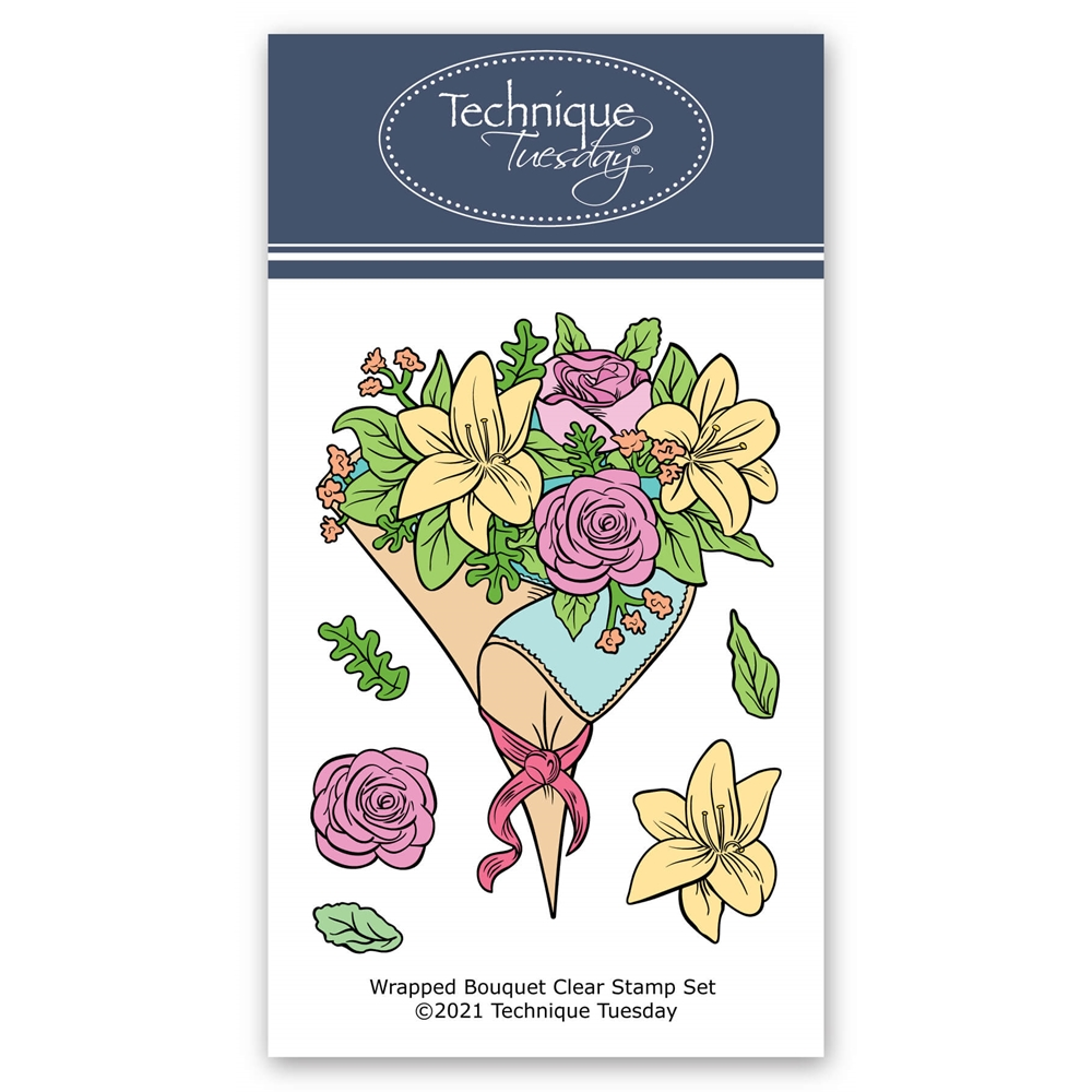 Technique Tuesday WRAPPED BOUQUET Clear Stamps 8827* zoom image