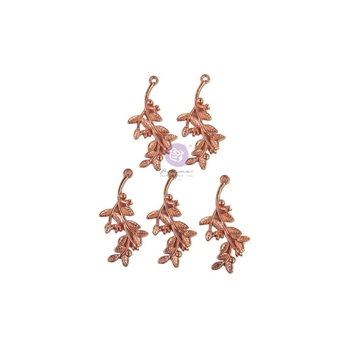 Prima Marketing WATERCOLOR FLORAL Metal Charms 651589*