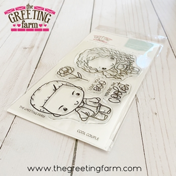 The Greeting Farm COOL COUPLE Clear Stamps tgf579
