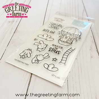The Greeting Farm LET'S GO Clear Stamps tgf580