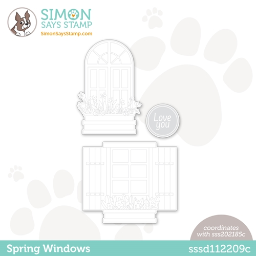 Simon Says Stamp SPRING WINDOWS Wafer Dies sssd112209c Preview Image