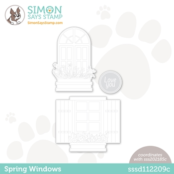 Simon Says Stamp SPRING WINDOWS Wafer Dies sssd112209c