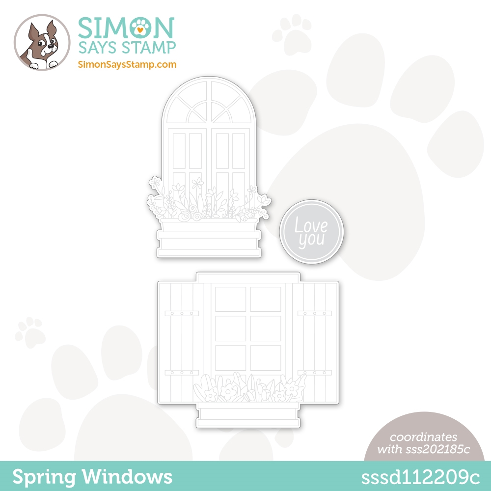 Simon Says Stamp SPRING WINDOWS Wafer Dies sssd112209c zoom image