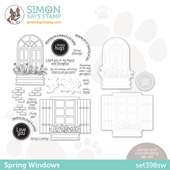 Simon Says Stamps and Dies SPRING WINDOWS set398sw