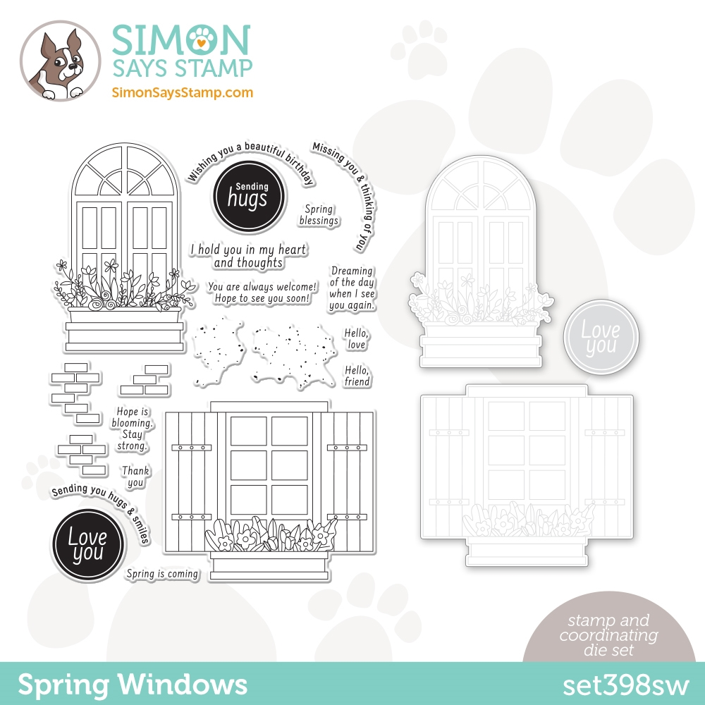 Simon Says Stamps and Dies SPRING WINDOWS set398sw zoom image