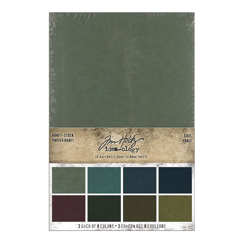 Tim Holtz Idea-ology KRAFT STOCK STACK COOL Paper th94110 Preview Image