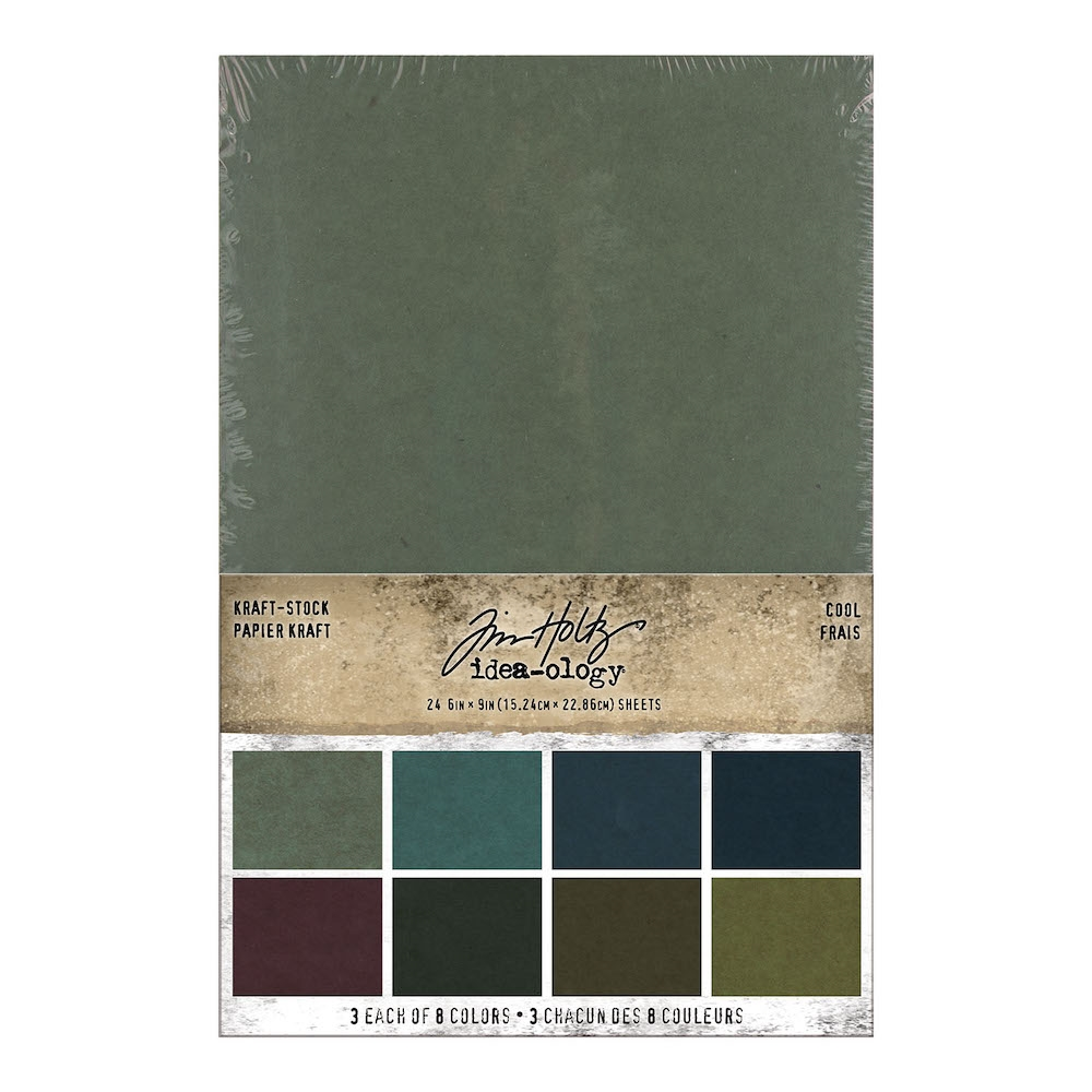 Tim Holtz Idea-ology KRAFT STOCK STACK COOL Paper th94110 zoom image