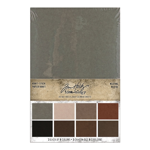 Tim Holtz Idea-ology KRAFT STOCK STACK NEUTRAL Paper th94111 Preview Image
