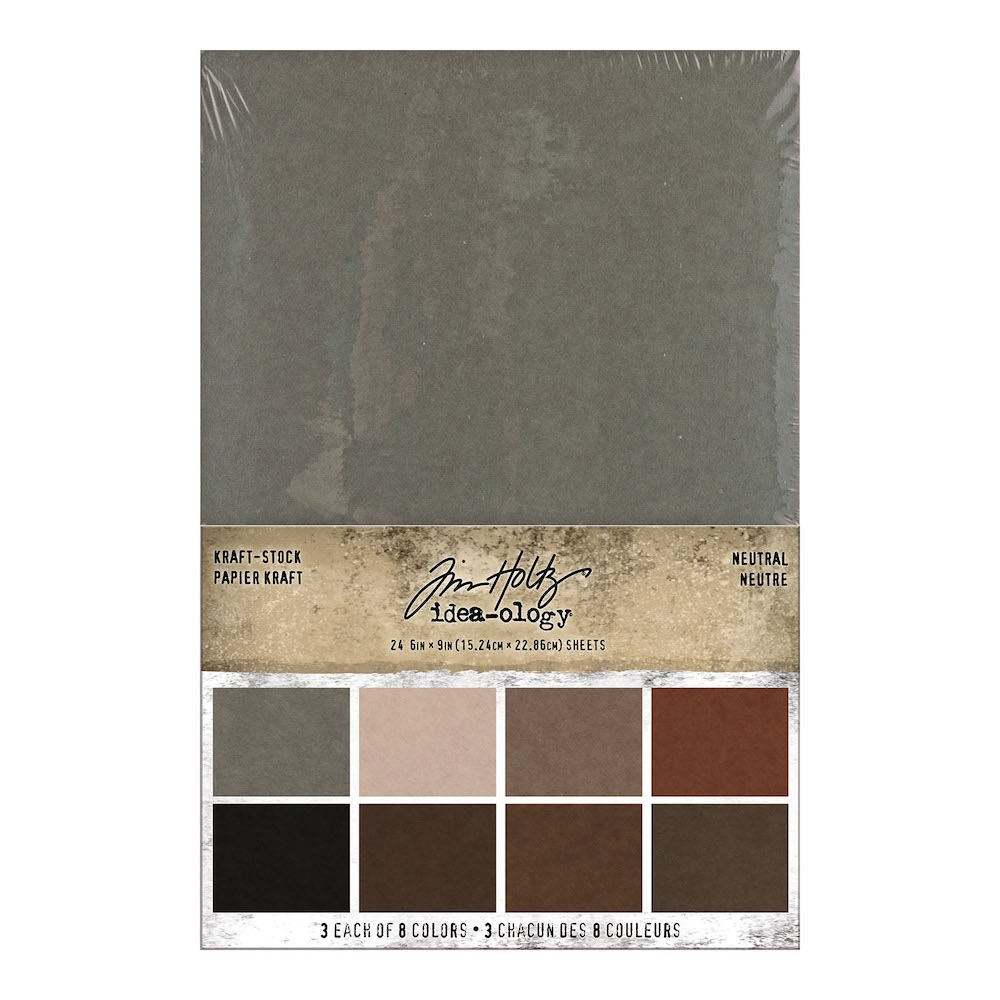Tim Holtz Idea-ology KRAFT STOCK STACK NEUTRAL Paper th94111 zoom image