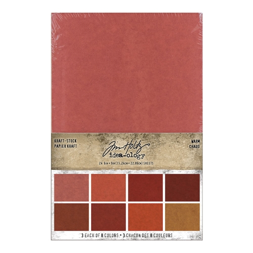 Tim Holtz Idea-ology KRAFT STOCK STACK WARM Paper th94112 Preview Image