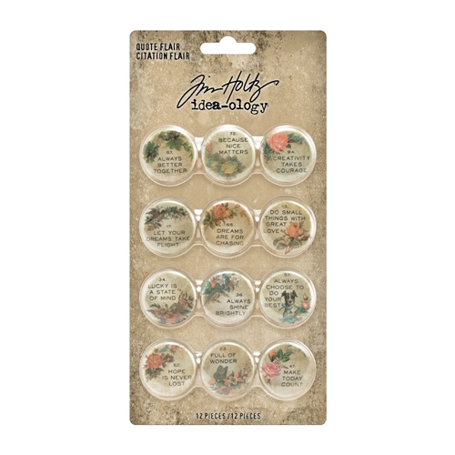 Tim Holtz Idea-ology QUOTE FLAIR th94116 Preview Image