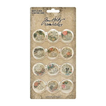 Tim Holtz Idea-ology QUOTE FLAIR Embellishments th94116