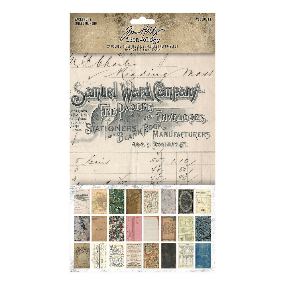 Tim Holtz Idea-ology BACKDROPS VOLUME 1 th94117 zoom image