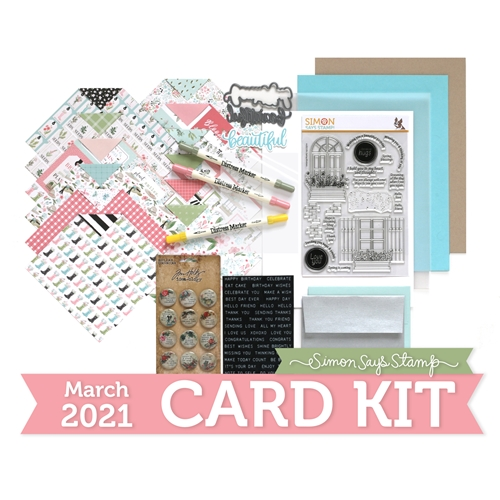 Simon Says Stamp Card Kit of the Month March 2021 SPRING WINDOWS ck0321 Preview Image
