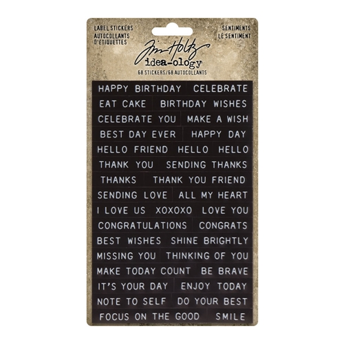 Tim Holtz Idea-ology SENTIMENTS Label Stickers th94121 Preview Image