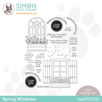 Simon Says Clear Stamps SPRING WINDOWS sss202185c