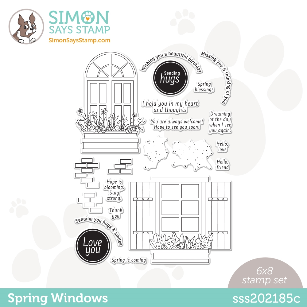 Simon Says Stamp Spring Windows Clear Stamp Set
