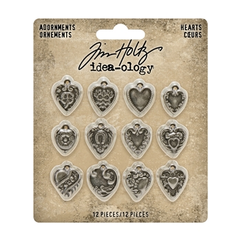 Tim Holtz Idea-ology HEARTS Adornments th94130