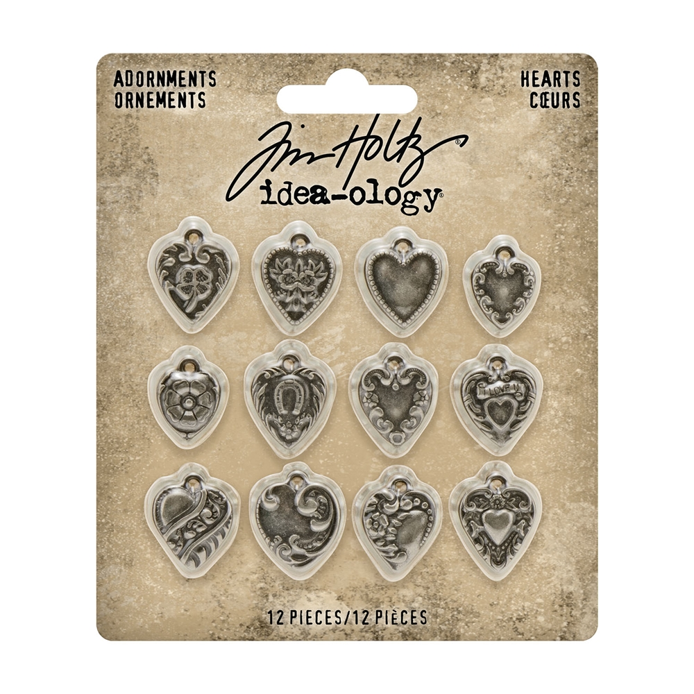 Tim Holtz Idea-ology HEARTS Adornments th94130 zoom image