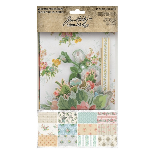 Tim Holtz Idea-ology SCRAPS Worn Wallpaper th94122 Preview Image