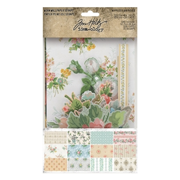 RESERVE Tim Holtz Idea-ology SCRAPS Worn Wallpaper th94122