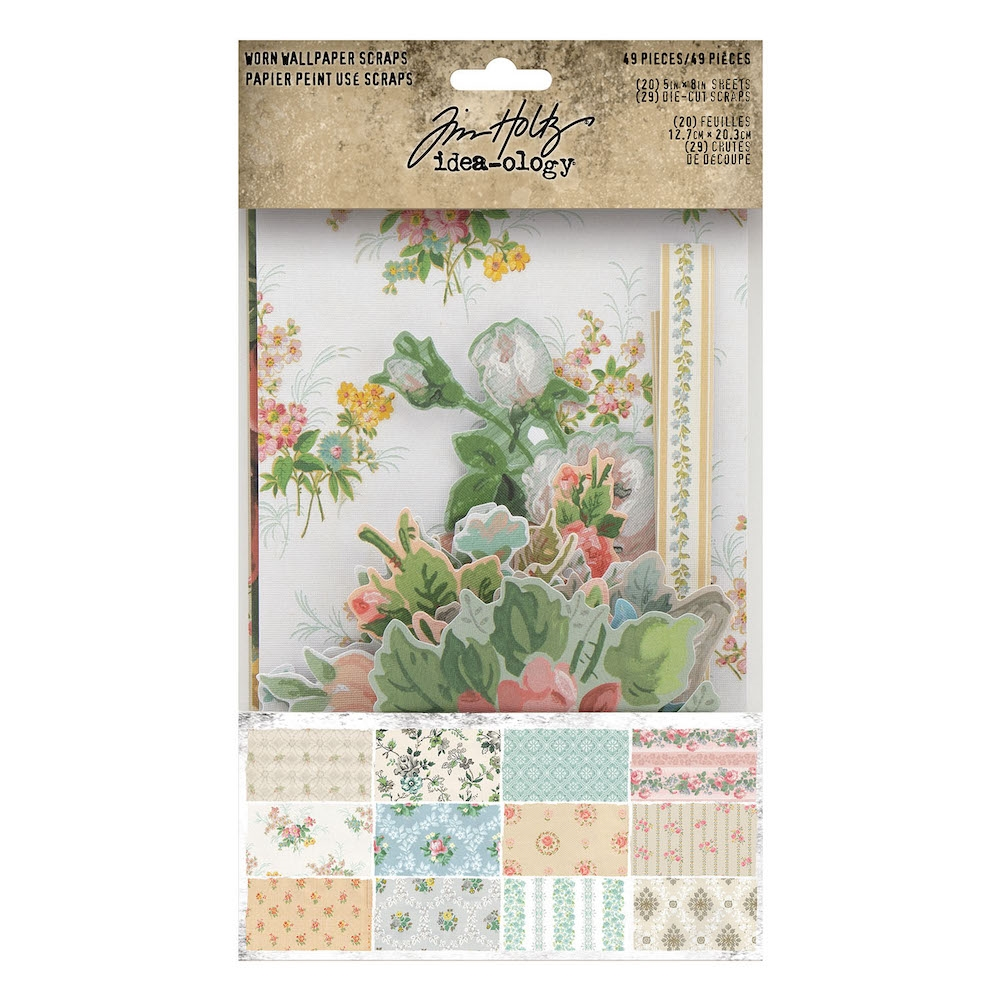 Tim Holtz Idea-ology SCRAPS Worn Wallpaper th94122 zoom image