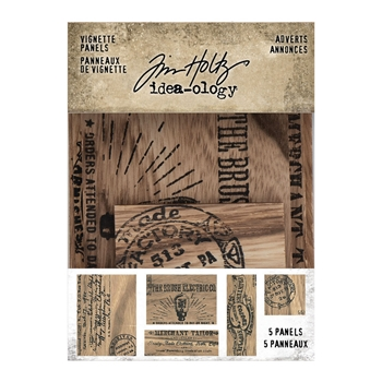 Tim Holtz Idea-ology ADVERT VIGNETTE PANELS th94124