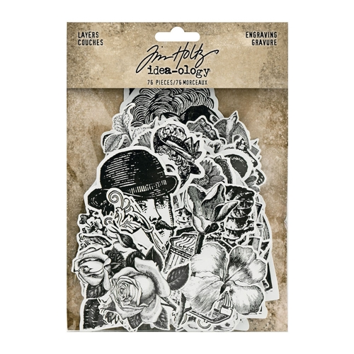 Tim Holtz Idea-ology ENGRAVING LAYERS th94125 Preview Image