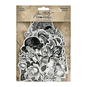 RESERVE Tim Holtz Idea-ology ENGRAVING LAYERS th94125