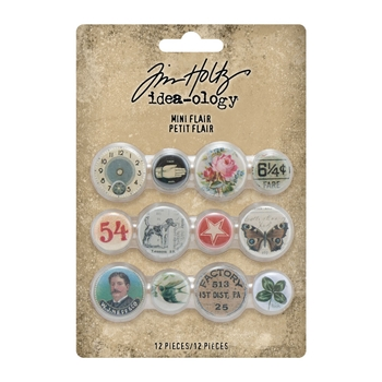 RESERVE Tim Holtz Idea-ology MINI FLAIR Embellishments th94129