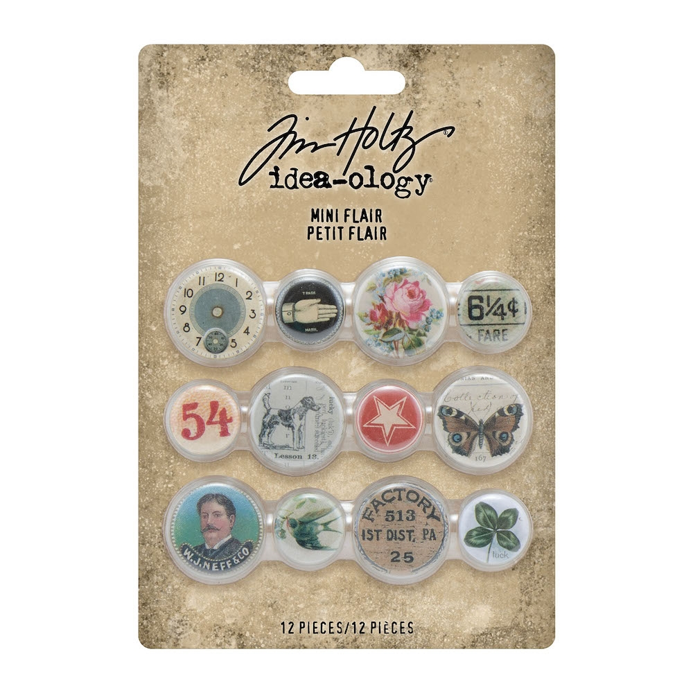 Tim Holtz Idea-ology MINI FLAIR Embellishments th94129 zoom image