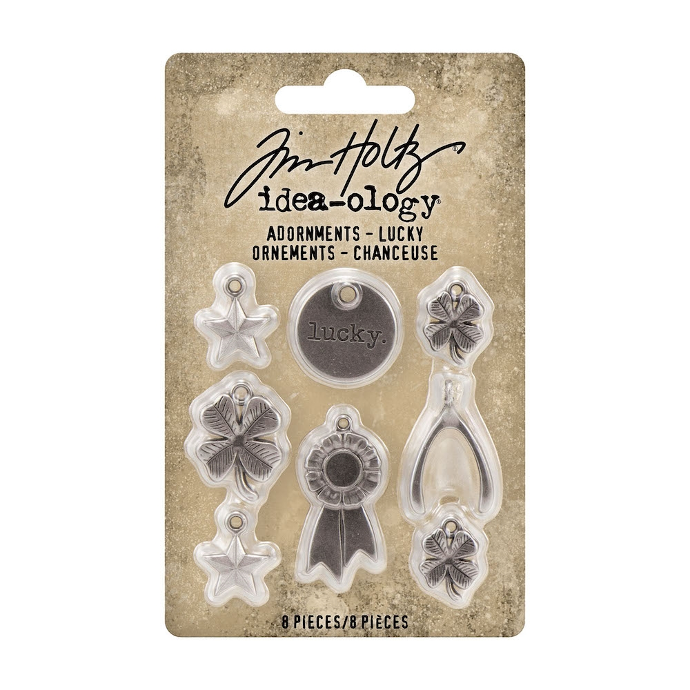 Tim Holtz Idea-ology LUCKY Adornments th94131 zoom image