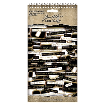 RESERVE Tim Holtz Idea-ology METALLIC Sticker Book th94134